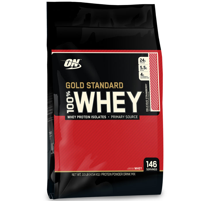 ON Gold Standard 100% Whey Protein 10lb - Delicious Strawberry