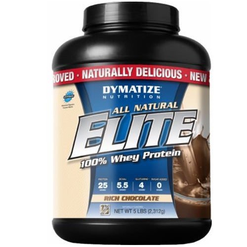Elite NATURAL Whey Protein 5lb.  - Strawberry Shake