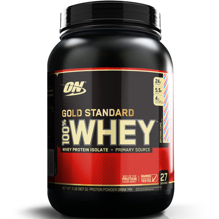 ON Gold Standard 100% Whey Protein 2lb - Birthday Cake
