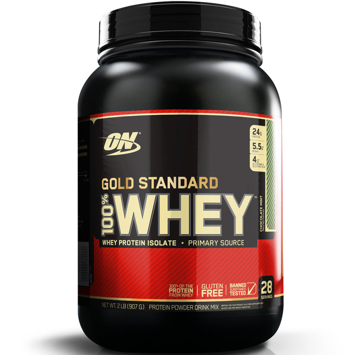 ON Gold Standard 100% Whey Protein 2lb - Chocolate Mint