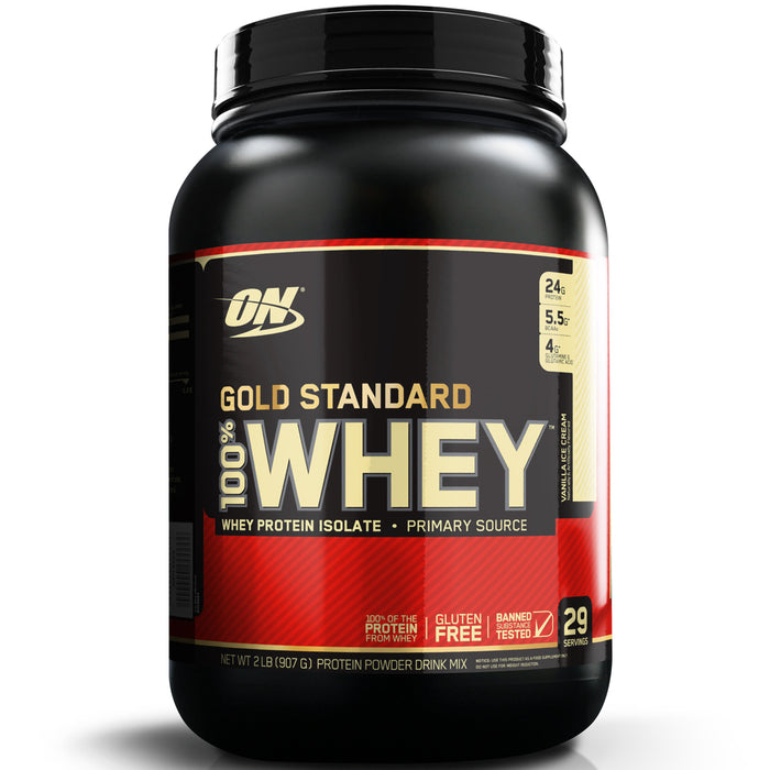 ON Gold Standard 100% Whey Protein 2lb - Vanilla Ice Cream