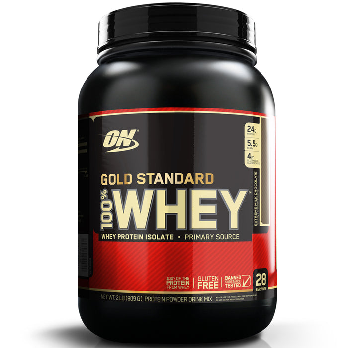 ON Gold Standard 100% Whey Protein 2lb - Extreme Milk Chocolate