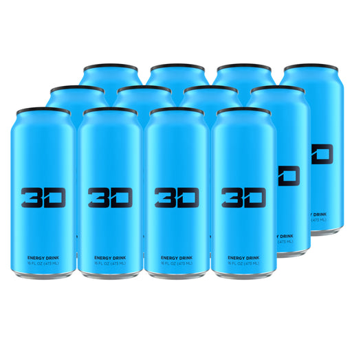 3D Energy Drink Blue Case of 12
