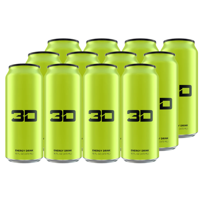 3D Energy Drink Green Case of 12
