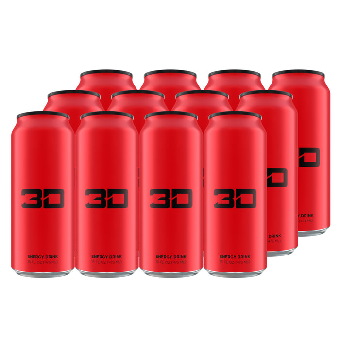 3D Energy Drink Red Case of 12
