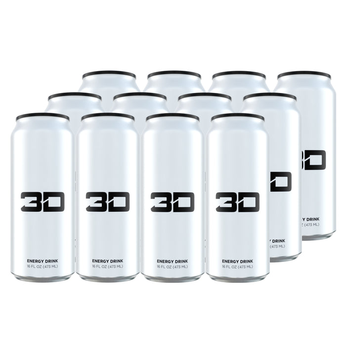 3D Energy Drink White Case of 12