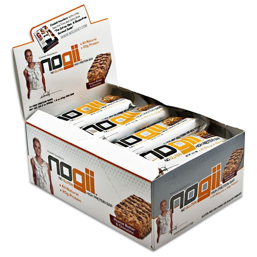 nogii High Protein Bar box of 12 - Peanut Butter Chocolate