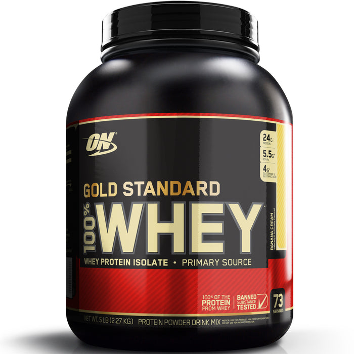 ON Gold Standard 100% Whey Protein 5lb - Banana Cream