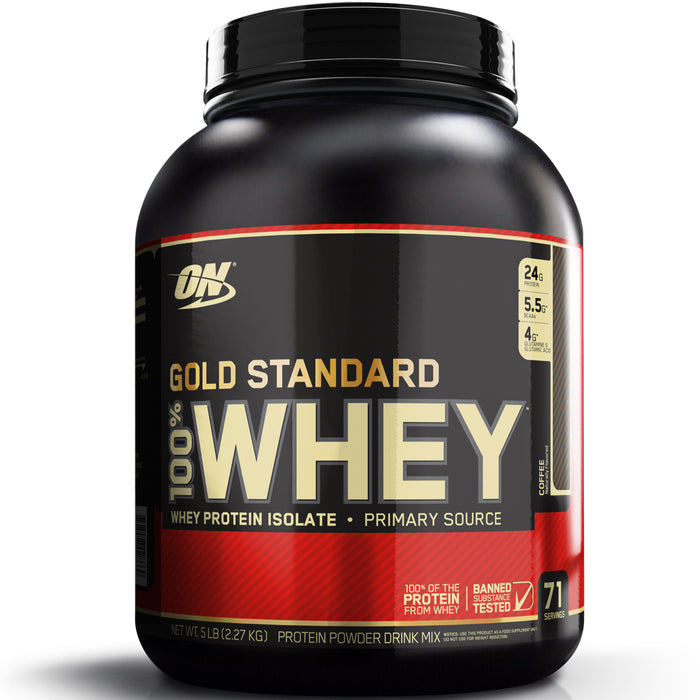 ON Gold Standard 100% Whey Protein 5lb - Coffee