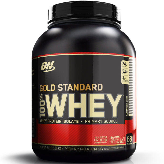 ON Gold Standard 100% Whey Protein 5lb - Cookies & Cream