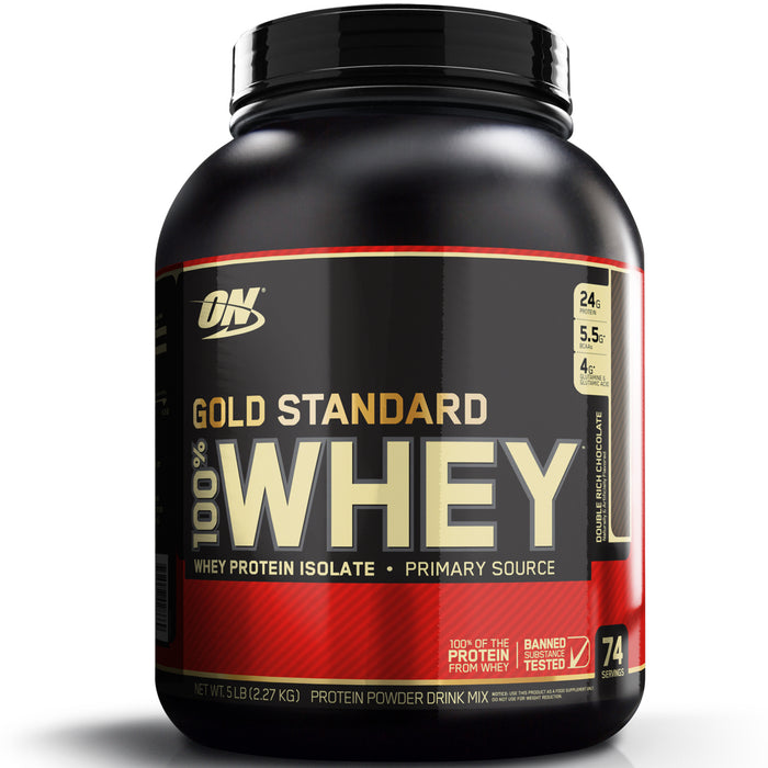 ON Gold Standard 100% Whey Protein 5lb - Double Rich Chocolate