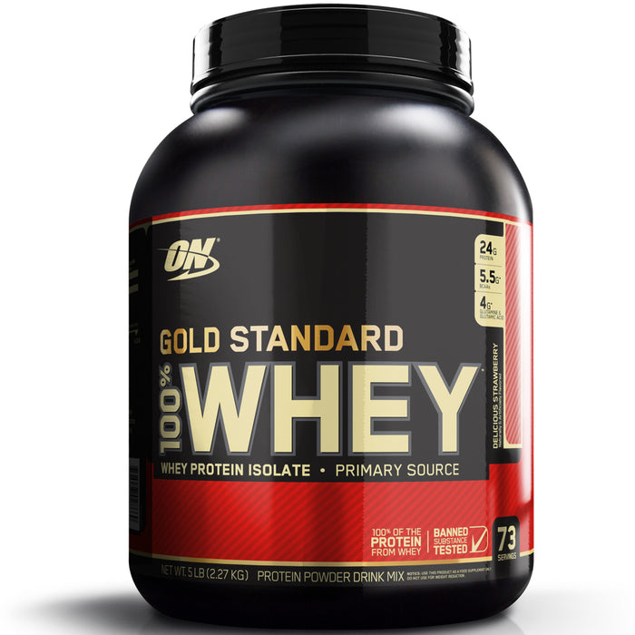 ON Gold Standard 100% Whey Protein 5lb - Delicious Strawberry