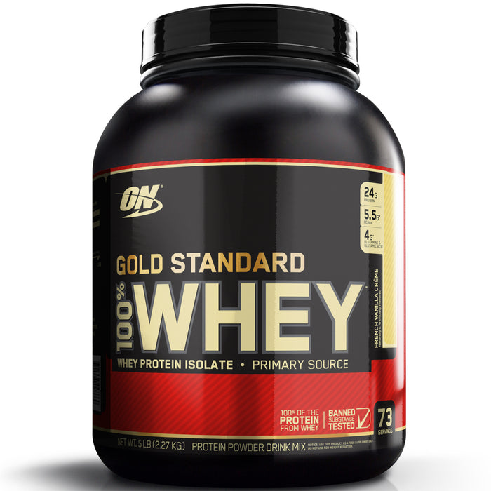 ON Gold Standard 100% Whey Protein 5lb - French Vanilla Creme