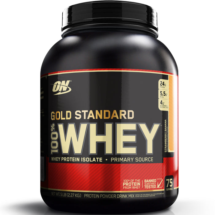 ON Gold Standard 100% Whey Protein 5lb - Strawberry Banana