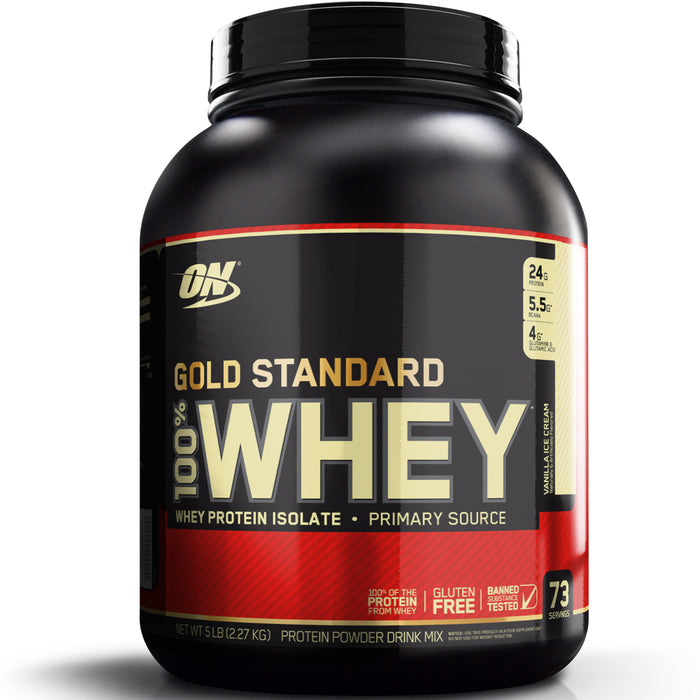 ON Gold Standard 100% Whey Protein 5lb - Vanilla Ice Cream