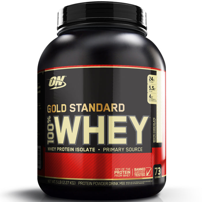 ON Gold Standard 100% Whey Protein 5lb - White Chocolate