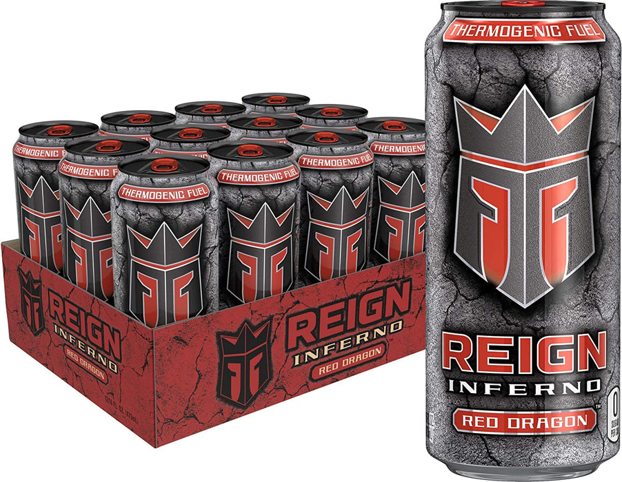 Reign Inferno Thermogenic - 12 Pack - Energy Drink - Tiger Fitness