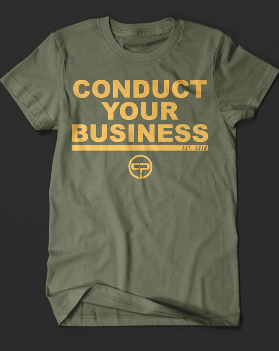 Coach Pain Conduct Your Business T-Shirt - Tiger Fitness