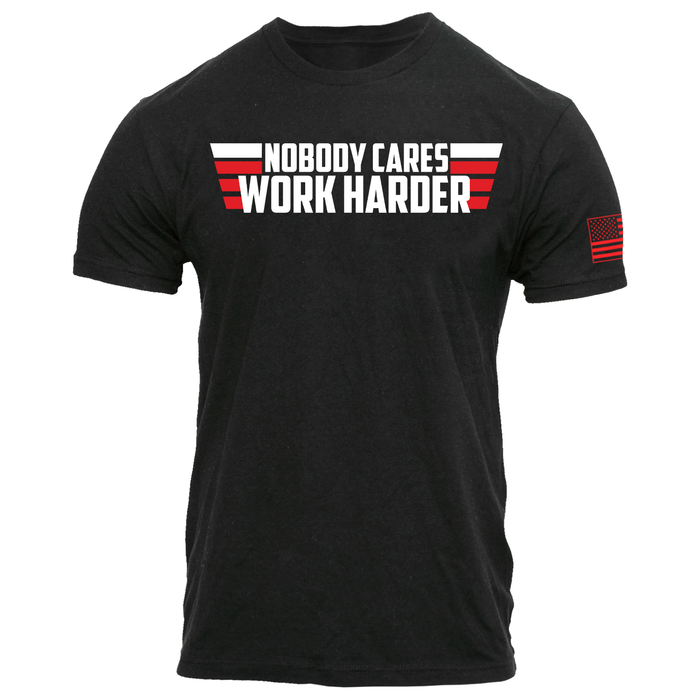 Nobody Cares Work Harder T-Shirt - Tiger Fitness