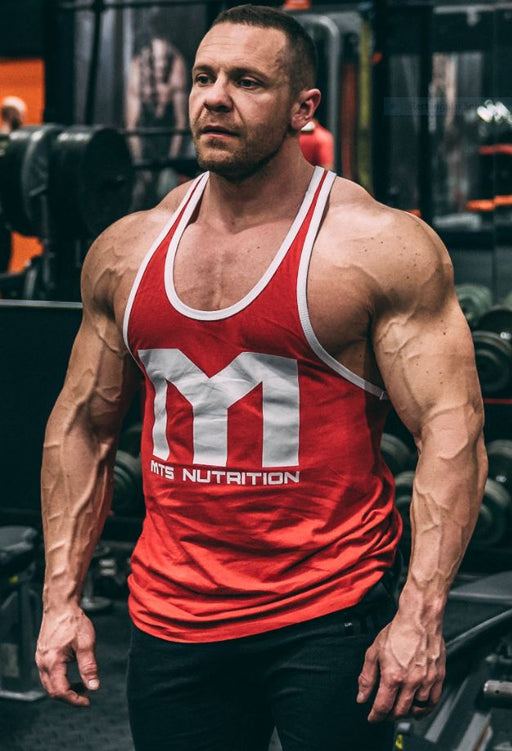 MTS Contrast Stringer (Red/White) - Tiger Fitness