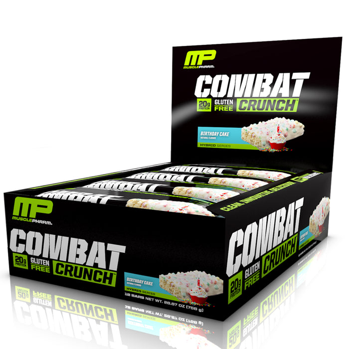 Combat Crunch Bars 12 per Box - White Chocolate Raspberry