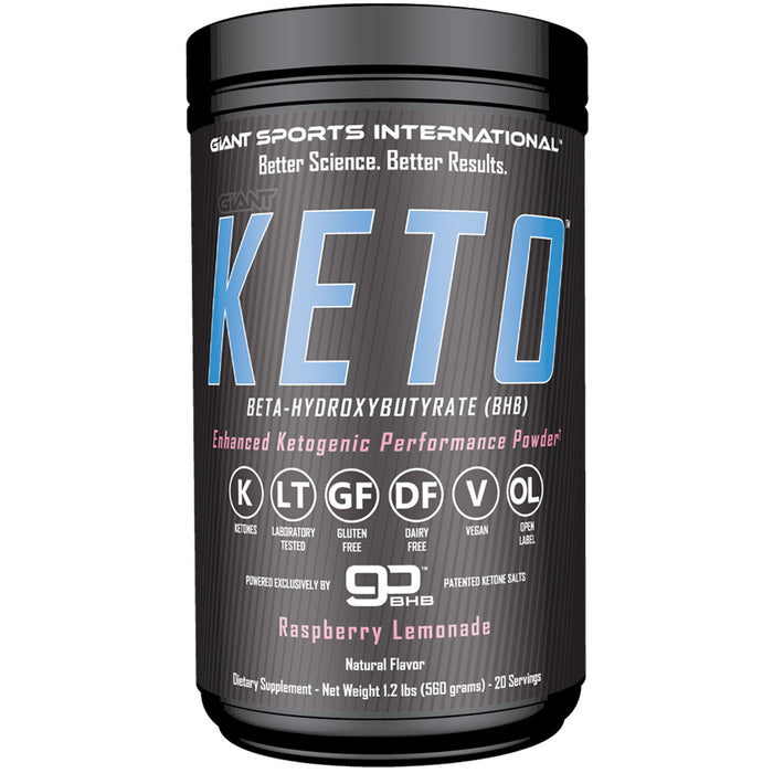 Giant Sports Giant Keto | 20 Servings - Raspberry Lemonade