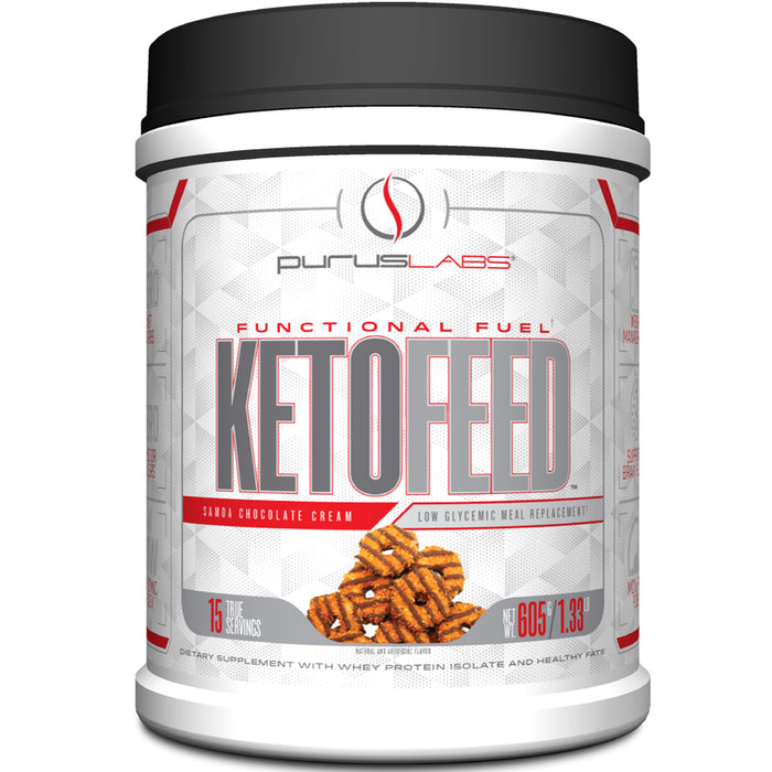 Purus Labs KetoFeed | 15 Servings - Samoa Chocolate Cream
