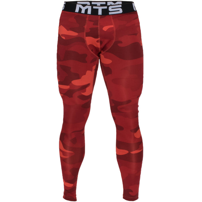 MTS Compression Full Length Tight | Red Camo - Large