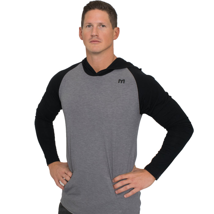 MTS Performance Tri-Blend Hoodie | Grey Heather & Black Heather - Small