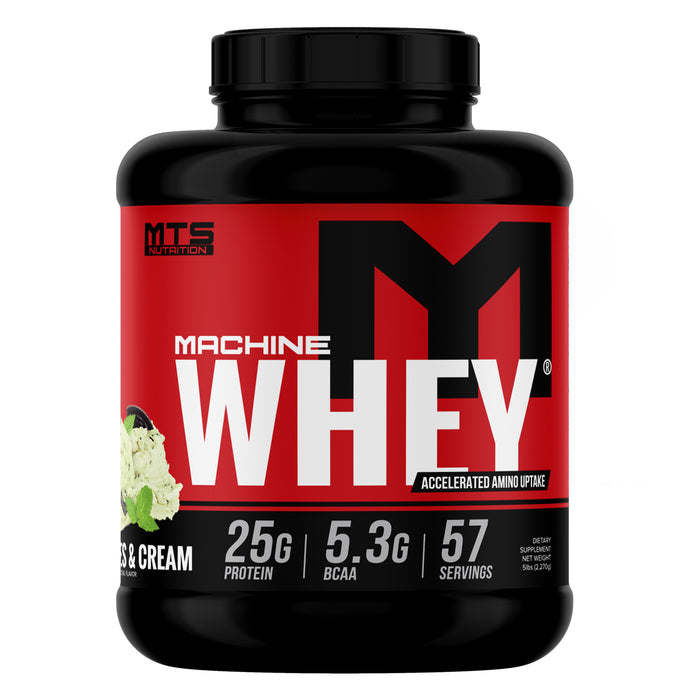 MTS Machine Whey Protein 5lbs. - Gourmet Mint Cookies & Cream
