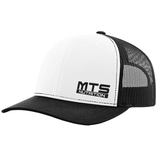 MTS Nutrition Mesh Snapback Hat | White & Black