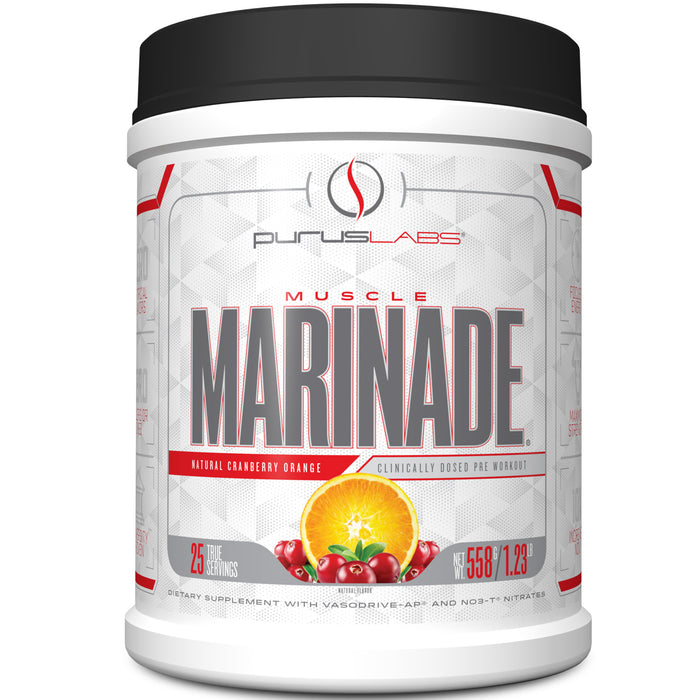 Muscle Marinade Pre Workout 25 Servings - Natural Cranberry Orange
