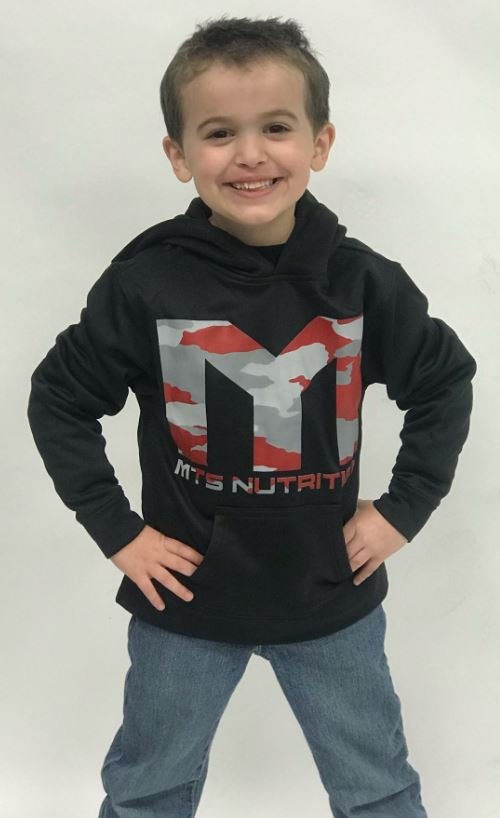 MTS Camo Youth Sport-Wick® Fleece Hooded Pullover