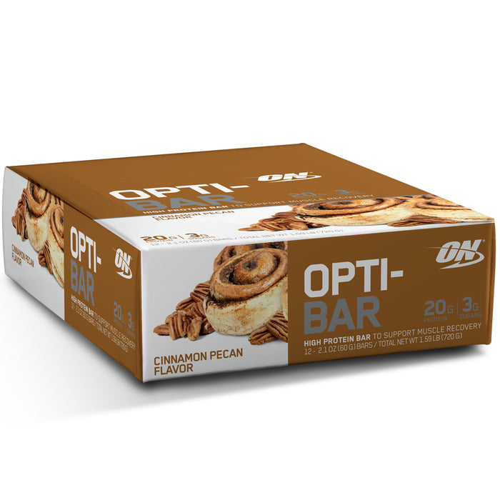 ON Opti-Bar Box of 12 - Cinnamon Pecan