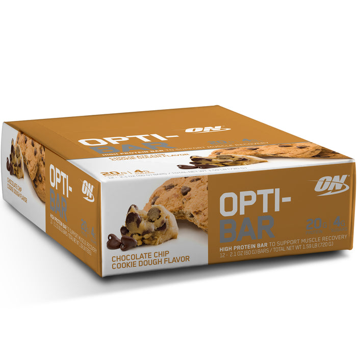ON Opti-Bar Box of 12 - Chocolate Chip Cookie Dough