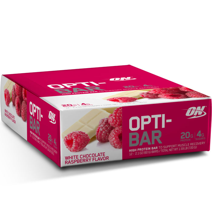 ON Opti-Bar Box of 12 - White Chocolate Raspberry