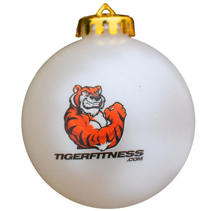 Tiger Fitness Satin Round Ornament