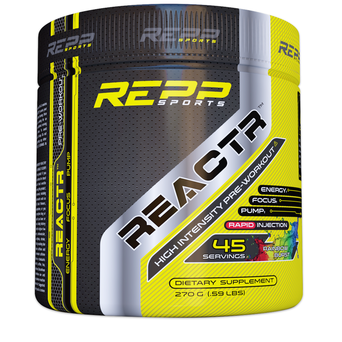 Repp Sports Reactr Pre Workout 45 Servings - Zap Berry