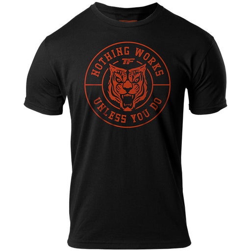 Tiger Crest Sueded Crew T-Shirt - Tiger Fitness