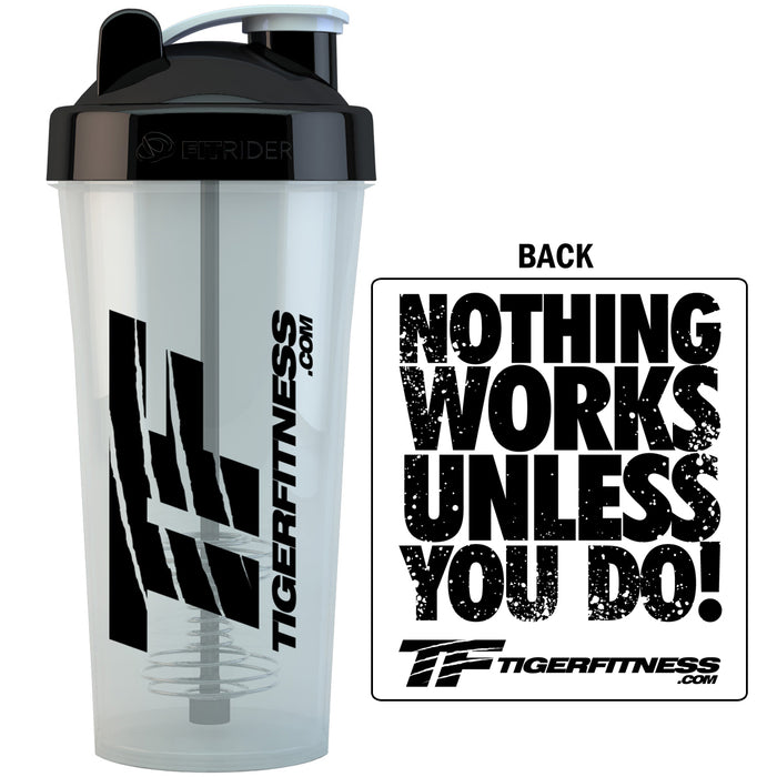TF FitRider Shaker Bottle - Tiger Fitness
