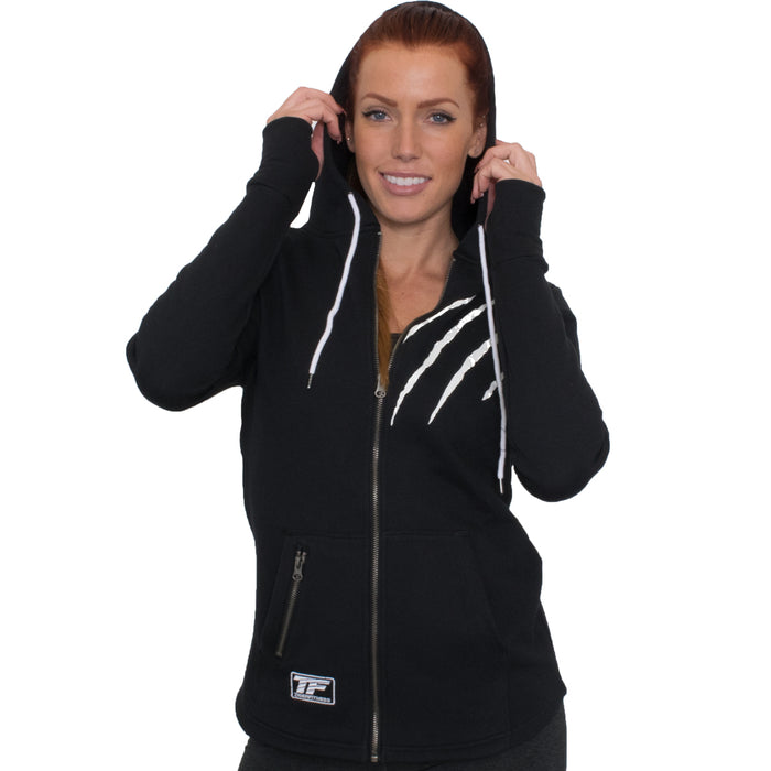 TF Full Zip Tiger Scratch Hoodie | Black - Small