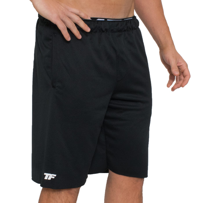 TF Performance Waffle Shorts | Black - Medium