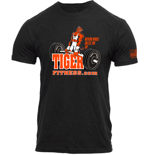 Deadlifting Tiger Tee - Tiger Fitness
