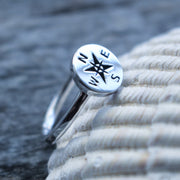 Sea Candy Ring: Compass Sterling Silver