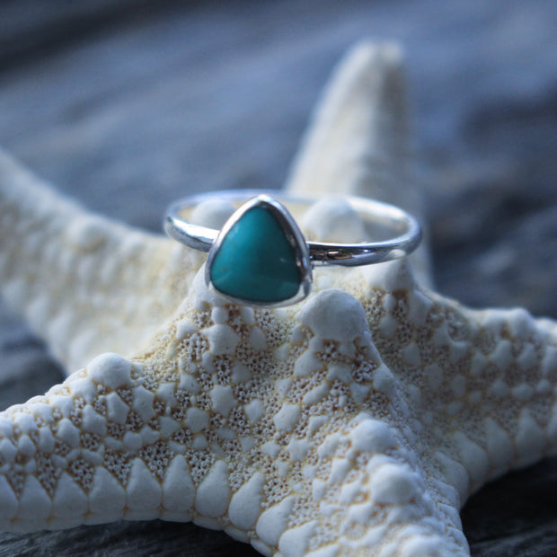 Sea Candy Ring: Dainty Turquoise