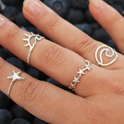 Sea Candy Ring: Petite Starfish Sterling Silver