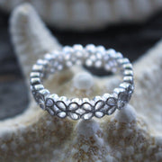 Sea Candy Ring: Eternity Flowers Sterling Silver