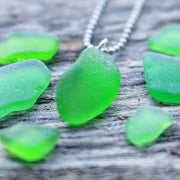 Sea Glass Necklace: Simple Satellite