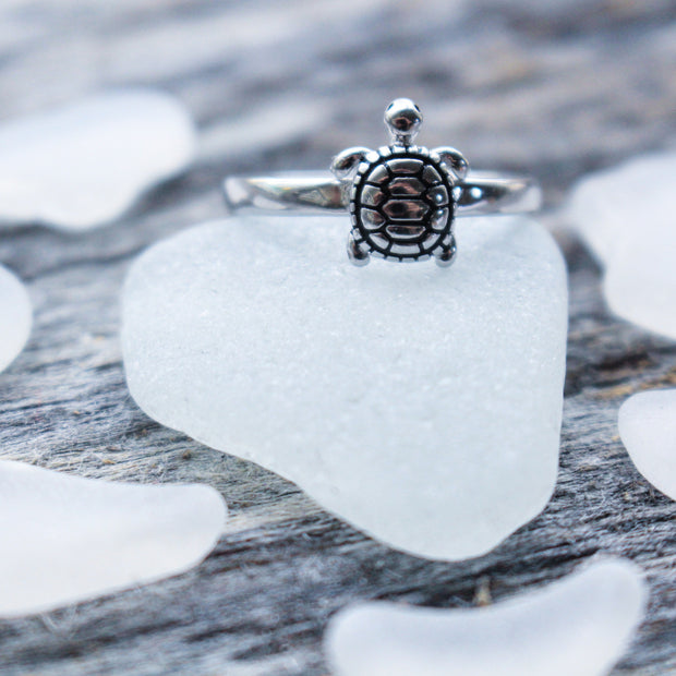 Sea Candy Ring: Sea Turtle Sterling Silver