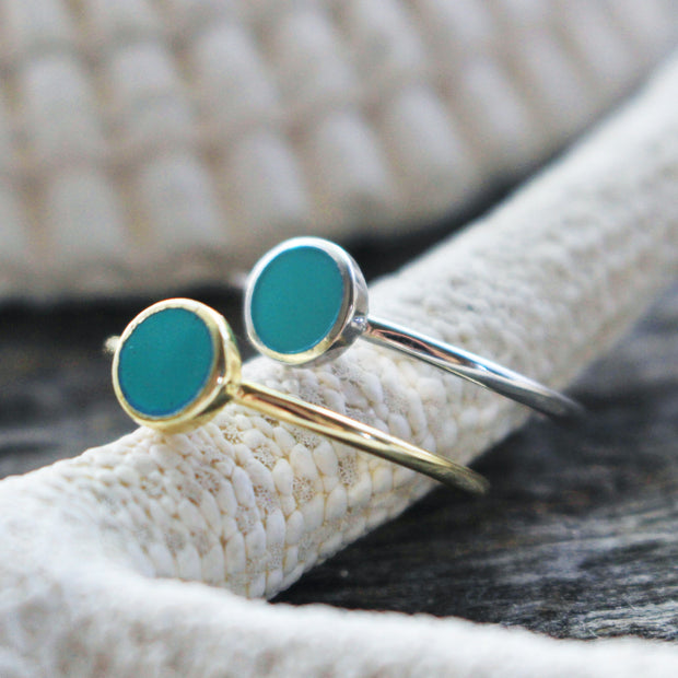 Sea Candy Ring: Turquoise Circle